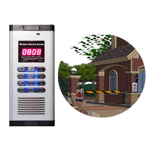 Wireless Building Intercom Access Control WIA-200A/B Application