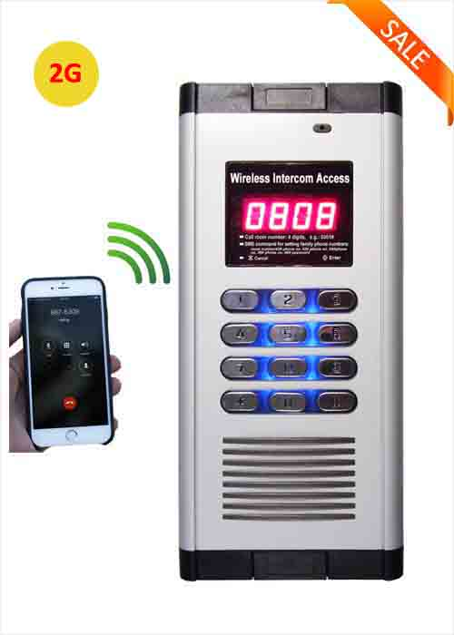 2G Smart Wireless Apartment Access Control GSM Building Intercom System Free Call Door Opener Remote Gate Control WIA-200A