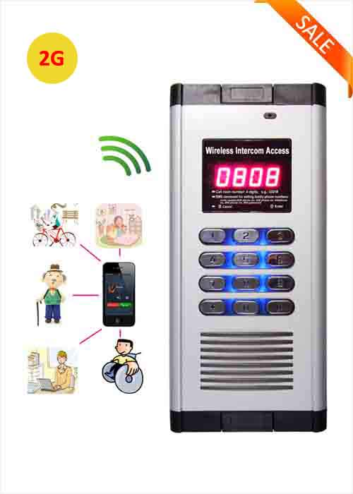 2G Smart Wireless Apartment Access Control GSM Building Intercom System Free Call Gate Opener WIA-200B