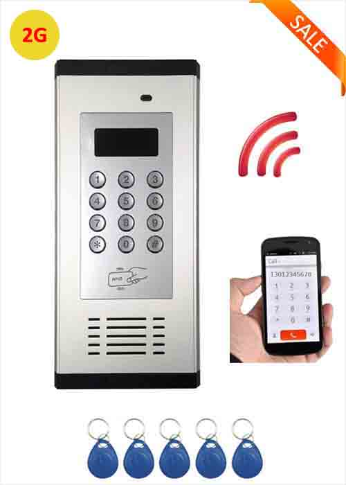 2G Smart Wireless Intercom Access Control GSM Building Intercom System IC Card Opening GSM Door Opener Remote Control WIA-200C