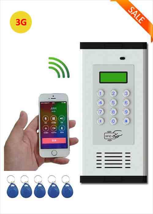 3g Gsm Wireless Apartment Access Control Building Office Villa Intercom System Ic Card Phone Remote Door Opener Wia 200c
