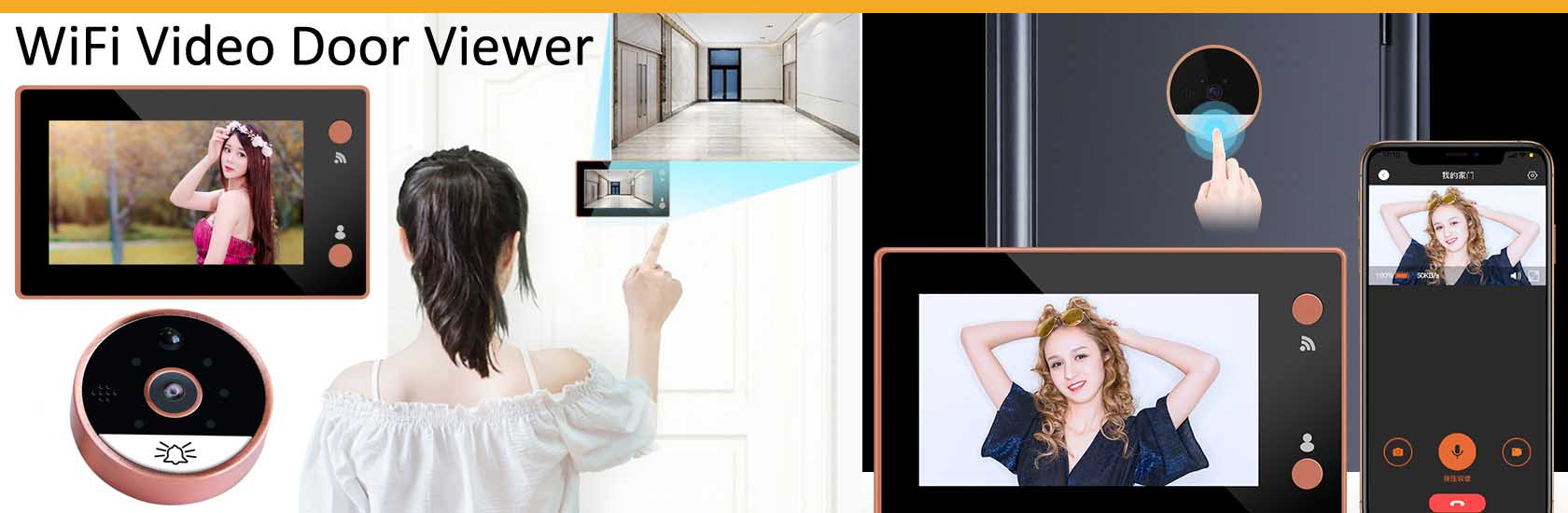 6 WiFi Video Door Viewer VF-DV04