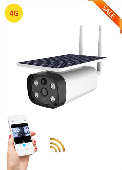 4G Wireless Solar IP Camera Outdoor Waterproof Solar Panel Camera Smart Home Security Two Way Voice Intrusion Alarm APP Remote Monitoring 1080P Night Vision Network Cameras VF-S8
