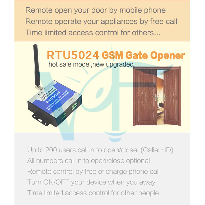 GSM 4G Wireless Door Access Free Call Remote Control GSM 4G
